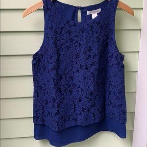 WHBM blue blouse size 2
